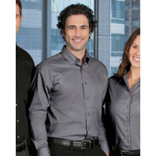 Men's Harriton Long-Sleeve Twill Shirt