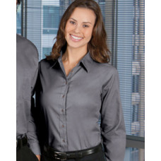 Ladies Harriton Long-Sleeve Twill Shirt