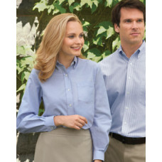 Ladies Long-Sleeve Wrinkle-Resistant Oxford