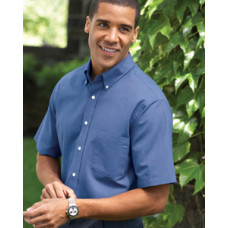 Men's Short-Sleeve Wrinkle-Resistant Oxford